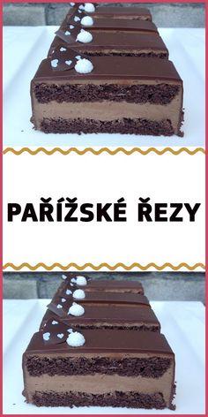 Czech Desserts, Sweet Desserts, How Sweet Eats, Tiramisu, Creme, Cake Recipes, Cheesecake, Food And Drink, Yummy Food