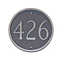 Montague Metal Inc. PCS-1P Basic Petite Circle One Line Address Plaque