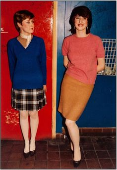 Two mod girls, Oxford Street, March 1981. | 28 Pictures Of Women From London's Lost '80s Subcultures