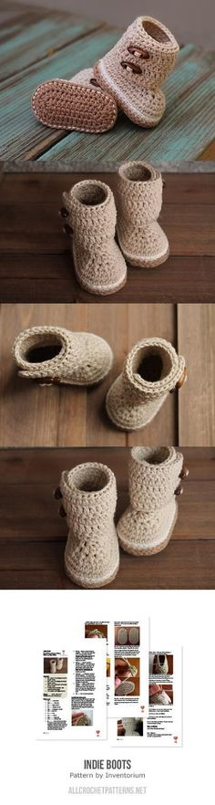Indie Boots Crochet Pattern