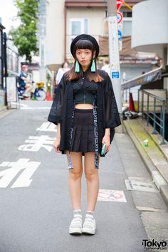 Urumi on the street in Harajuku wearing a sheer... | Tokyo Fashion