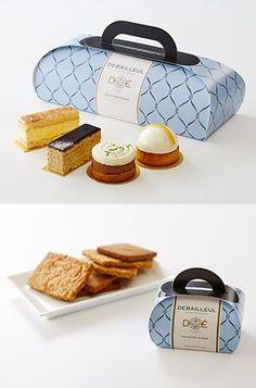 GATEAU ガトー新登場 Cake Boxes Packaging, Takeaway Packaging, Dessert Packaging, Bread Packaging, Bakery Packaging, Cookie Packaging, Food Packaging Design, Packaging Design Inspiration, Bakery Logo Design