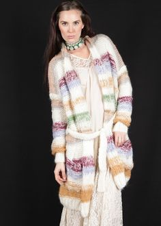 Oversize Longstrickjacke Lucky Rainbow: MES DEMOISELLES, Paris
