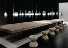 flow(t) a contemporary chandelier by Nao Tamura