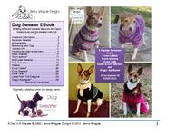Ravelry: Dog Sweater EBook Extras pattern by Jenna Wingate