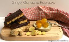 Ginger Ganache Flapjacks, warming delicious and full of flavour.