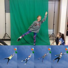 Peacock Primary  School and Buddy3896 are really getting carried away in the best way possible. Check out how cute these students look as they soar to new heights with #GreenScreen by #DoInk.