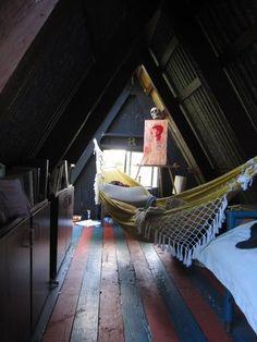 A frame and hammock
