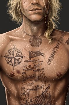 Assassin' Creed Black Flag Edward Kenway La sombra by jodeee on deviantART Assassins Creed Tattoo, Arte Assassins Creed, Assassins Creed Black Flag, Asesins Creed, All Assassin's Creed, Rite De Passage, Assassin's Creed Black, Charles Vane, Connor Kenway