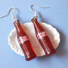 Coca Cola big Bottle  Dangle Earrings by yifatiii on Etsy, $9.99
