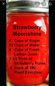 Party drinks alcohol vodka strawberry lemonade Ideas for 2019 Alcoholic Drinks Vodka, Party Drinks Alcohol, Liquor Drinks, Alcohol Drink Recipes, Everclear Drinks, Alcoholic Desserts, Bourbon Drinks, Food And Drinks, Moonshine Cocktails