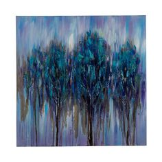Cooper Classics Shattered Forest: 30 x 30-Inch Wall Art ($186) ❤ liked on Polyvore featuring home, home decor, wall art, canvas wall art, forest home decor and canvas home decor