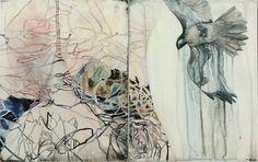 Belinda Fox: Return, 2011. Size: 36 x 56cm. Medium: watercolour, drawing on board