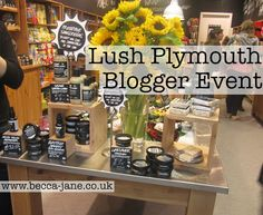 Lush Plymouth Blogger Event - complete with a demo of all of the products, a chance to make their own bath ball, elderflower water and hotel chocolate treats.