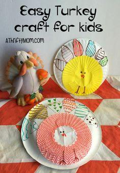 Easy turkey craft for kids, kids craft, fall craft, thanksgiving craft, craft, thrifty craft ideas, craft