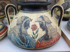 Rhodes, Greece - August 2011 - Handmade ceramics