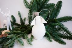 Items similar to Ceramic Christmas angel, hand-made white Christmas decorations, fluffy angel, wire wings on Etsy Christmas Angels, Christmas Home, White Christmas, Christmas Ornaments, Ceramic Christmas Decorations, Holiday Decor, White Ceramics, Festive, Birthdays