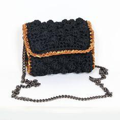 Handmade crochet flap bag Handmade Bags, Handbags, Crochet, Mini, Leather, Fashion, Purses, Chrochet, Moda