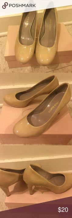 Franco Sarto Nude patent 3 inch heels It has some marks but barely noticeable. Very comfy. Franco Sarto Shoes Heels