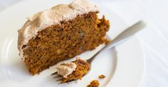 Pumpkin-walnut gingerbread with spiced buttercream frosting [Vegan, Gluten-Free]