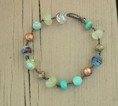 Coastal Bohemian bracelet  Beach Cottage  Boho by 3DivasStudio, $30.00