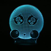 US $9.85 7 Colors Changing Lovely QQ Emoji Expression Smile 3D Effect Table Bedside LED Night Light Unique Home Decoration Lighting Gift. Aliexpress product