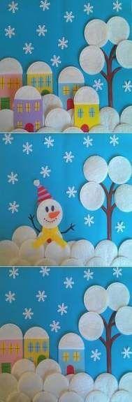 * * *La boite à idées de l& atelier * *: DIY Noël Activité & Déco aktivitäten mit freunden aktivitäten mit freunden unternehmungen Kids Crafts, Christmas Crafts For Kids, Winter Christmas, Kids Christmas, Projects For Kids, Diy For Kids, Diy And Crafts, Christmas Decorations, Paper Crafts
