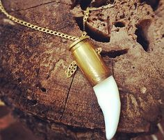 Tooth Bullet Necklace by Gramercy Eight