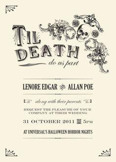 Creative diy halloween wedding invitations ideas (2)