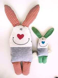 Nähanleitung für Osterhasen / diy sewing instruction for easter-bunnies by Doodah via DaWanda.com