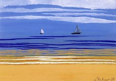 Seascape with Sailboats, Leon Spilliaert  1925