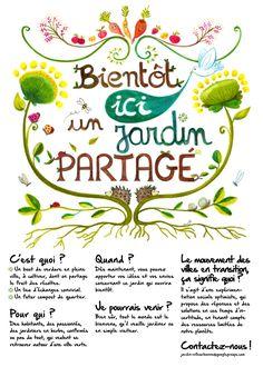 jardin partagé : c'est quoi?, pour qui?, quand... (Villeurbanne) Sustainable City, Garden Signs, Urban Farming, Permaculture, Vegetable Garden, Green, Photo Blog, Lyon, Flyers