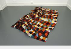 8/12/15- Ruppert Norfolk talked about his work as geometric and abstract with many colours.