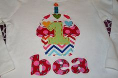 First Birthday Cupcake shirt - Primary Colors - Rainbow Cupcake Shirt