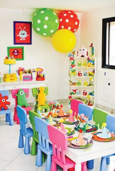 Colorful & Modern Little Monster Birthday Party