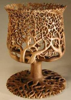 Carved from one piece of wood ....beautiful.....
