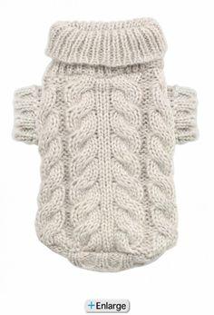 Angora Cable Knit Pet Sweater