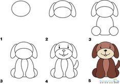 Drawing Simple Animal Dog pics