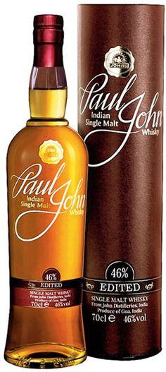 Paul John Edited Indian Single Malt Whisky. #whiskydrinks