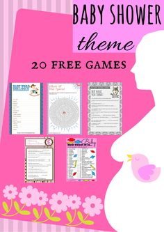 Free Printable Baby Shower Games Make your baby shower fun with these super entertaining and free printable baby shower games.