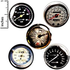 Speedometer 5 Pack Buttons for Backpacks Pins or Fridge Magnets Funny Buttons, Cool Buttons, Steampunk Gears, Steampunk Cosplay, Steampunk Halloween, Jacket Pins, Work Gifts, Steampunk Accessories, Cheap Gifts