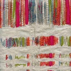 Orleans Festival Pink Embroidered Broken Line Upholstery Fabric - SW52484 - Fabric By The Yard At Discount Prices