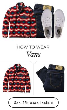 """back at it again w the white vans"" by lindseydykes18 on Polyvore featuring Diesel, Patagonia and Vans"