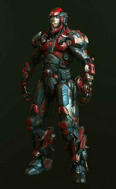 Futuristic Armour, Futuristic Art, Armor Concept, Concept Art, Arte Robot, Combat Armor, Gundam, Sci Fi Armor, Future Soldier