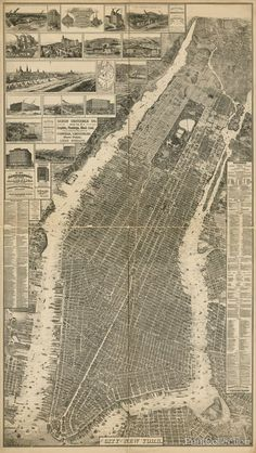 The City of New York Map, 1879: