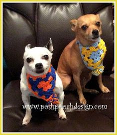 9c201d75598 Chunky Dog Collars - Flower and Bowtie pattern by Sara Sach ...
