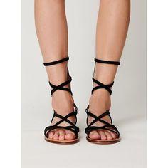 Free People Dolce Vita Caitlyn Gladiator Sandal ($50) ❤ liked on Polyvore