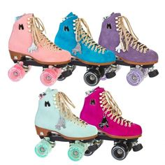 Women's #Fashion and #Fitness: Moxi Lolly #Suede High #Top #Outdoor Roller #Skates Available in 5 #Colors: #Teal #Green, #Strawberry #Pink, #Lavender #Purple, #Peacock #Blue, and #Fuchsia. Made by Riedell, These suede high top #rollerskates can be used for outdoor skating. They come with Moxi Gummy or Moxi Juicy Outdoor Wheels and an adjustable toe stop. Moxi Lolly Skates are a mid-range #lifestyle #skate, designed for #recreation and #street #skating.