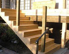 Holz AUßentreppe selber bauen mit oder ohne Geländer