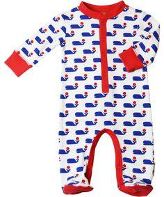 Joli pyjama avec baleines par Baba Babywear #emilea